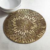 Pier 1 Imports Bronze Petal Beaded Placemat