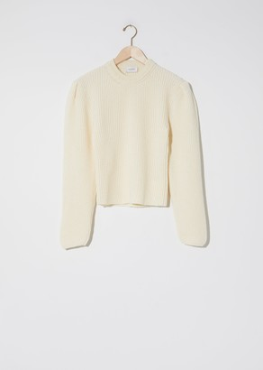 Lemaire Puffy Sleeves Sweater Chalk