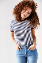 Truly Madly Deeply Jewel Stripe Ringer Tee