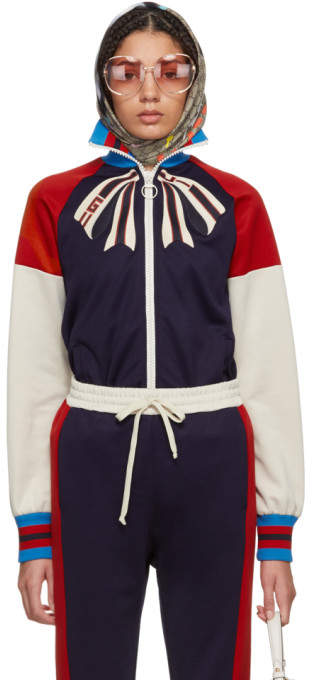 Gucci Blue Guccify Yourself Bow Logo Track Jacket