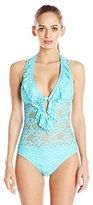 Kenneth Cole Reaction Women's Island Fever Halter-Neck One-Piece Swimsuit