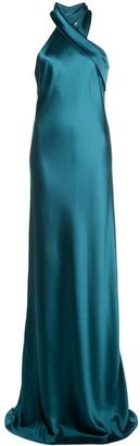 Galvan Twist Detail Maxi Dress