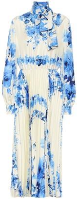 Valentino Floral silk-twill midi dress