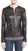 Soia & Kyo Women's Slim Fit Zip Front Leather Jacket