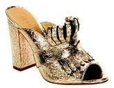 Schutz Janny Leather Slip-On Sandals