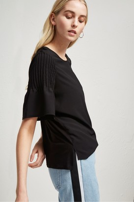 French Connection Classic Crepe Light Pintuck T-Shirt