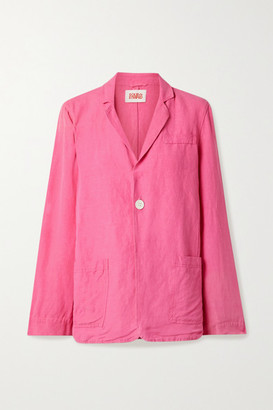 Solid & Striped Linen-blend Blazer - Pink