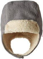 Zutano Cozie Fleece Furry Trapper Hat (Toddler) - Gray - 2T