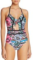 Laundry by Shelli Segal Bold Cutout One Piece Swimsuit