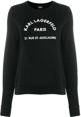 Karl Lagerfeld Paris Address Logo sweatshirt