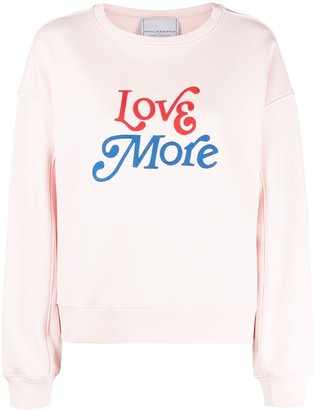 Philosophy di Lorenzo Serafini Love More embroidered sweatshirt