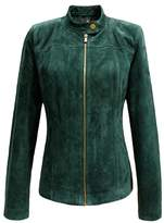 Escalier Women's Genuine Leather Zipper Suede Moto Jacket