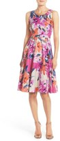 Donna Morgan Women's Floral Print Woven Fit & Flare Dress
