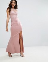 Lipsy Michelle Keegan Loves Sweetheart Maxi Dress With Sequin Lace Upper