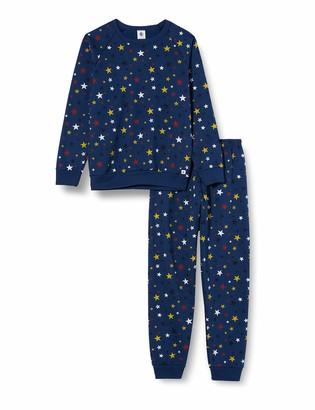 Petit Bateau Children's Fleece Pyjamas with Stars Design - - 12 Years