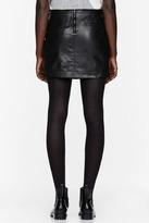 Helmut Lang Black Leather belted Mini Skirt