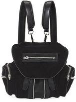 Alexander Wang Marti Velvet Multi-Pocket Backpack