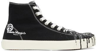 Maison Margiela Black Canvas Pollock Tabi High-Top Sneakers