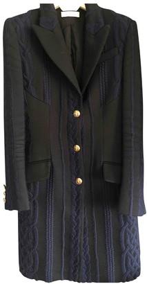 Versace Blue Wool Coats