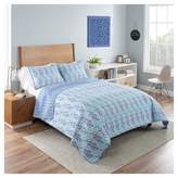 Vue Purple & Blue Paisley Reversible Little India Quilt Set