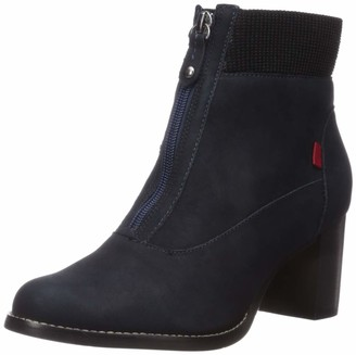 Marc Joseph New York Women's Genuine Leather Luxury Ankle Boot with Elastic Detail