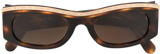 Chanel Pre Owned Skinny Sunglasses
