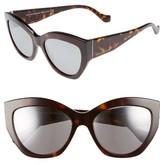 Balenciaga Women's 56Mm Cat Eye Sunglasses - Burgundy/ Ruthenium/ Gradient
