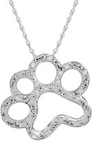 JCPenney FINE JEWELRY ASPCA Tender Voices 1/10 CT. T.W. Diamond Paw Print Pendant Necklace