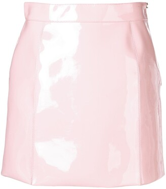 Emilio Pucci Pink Patent Mini Skirt