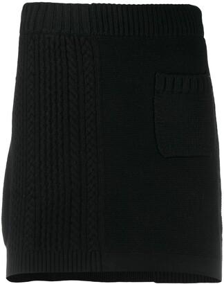 Barrie Ribbed Panel Mini Skirt