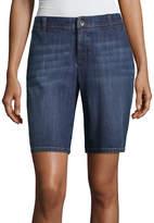 Liz Claiborne 10 1/2 Classic Fit Twill Bermuda Shorts