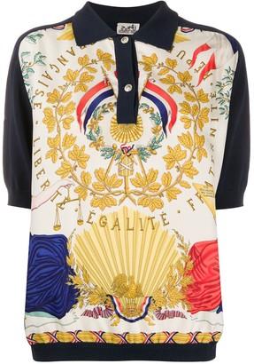 Hermes Pre-Owned Leaf Print Polo Shirt