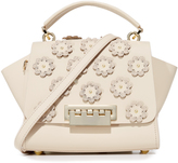 Zac Posen Floral Applique Eartha Iconic Top Handle Cross Body Bag