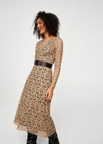 MANGO Guipure midi dress