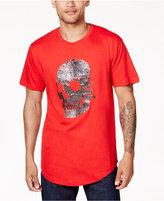 Sean John Men's Beaded Skull T-Shirt