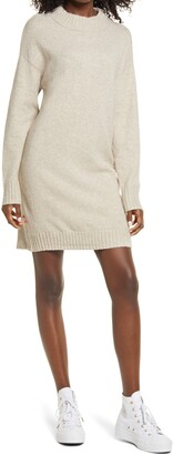 BP Easy Crewneck Long Sleeve Sweater Dress