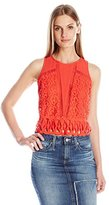 Greylin Women's Melrose Lace Crop Top