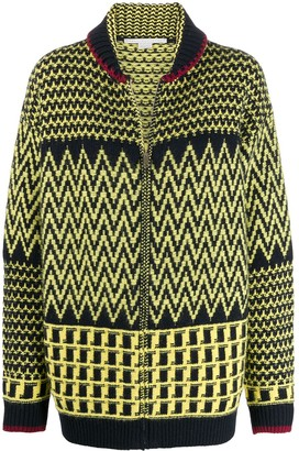Stella McCartney Patterned-Knit Zipped Cardigan