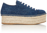 Miu Miu Women's Platform Espadrille Sneakers-Blue