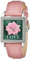 Proenza Schouler The Collection by Arjang and Co. Women's 2002S-PK Love Rose Pink Leather Square Watch