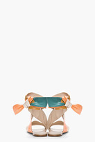 Chloé Nude Colorblock Leather Wrap Sandals