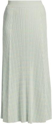 Proenza Schouler White Label Mini Geo Rib-Knit Maxi Skirt