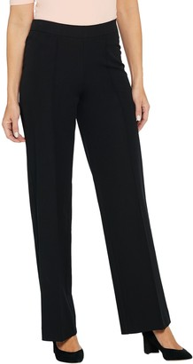 Isaac Mizrahi Live! Tall 24/7 Stretch Pintuck Wide- Leg Pants