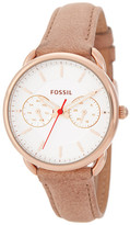 Fossil Women's Tailor Leather Strap Watch Boxed Set