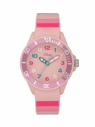 S'Oliver Unisex_Adult Analogue Quartz Watch with Silicone Strap SO-4005-PQ