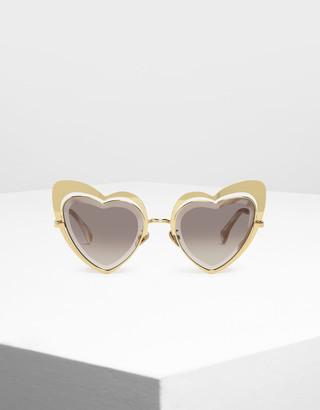 Charles & Keith Heart-Shaped Sunglasses