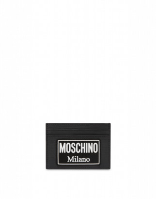 Moschino Label Cards Holder Man Black Size U It - (one Size Us)