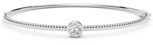 Forevermark Tribute Collection Diamond (1/4 ct. t.w.) Bangle with Beaded Detail in 18k Yellow, White and Rose Gold