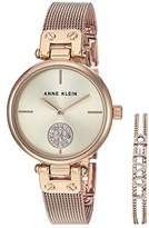 Anne Klein Rose Gold-Tone Watch and Bracelet Set (Rose Gold-Tone) Watches