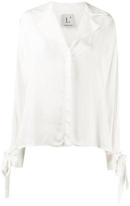 L'Autre Chose Tie-Sleeve Buttoned Blouse